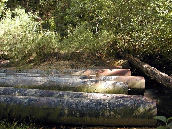 Pipe Bridge over stream<br /> Tallassee, TN 9/29/07