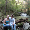 Closer view of Ashley and Jared by the waterfall.  We all had a good time today as a family.