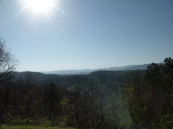 View from Foothills Parkway on the way to Tallassee.