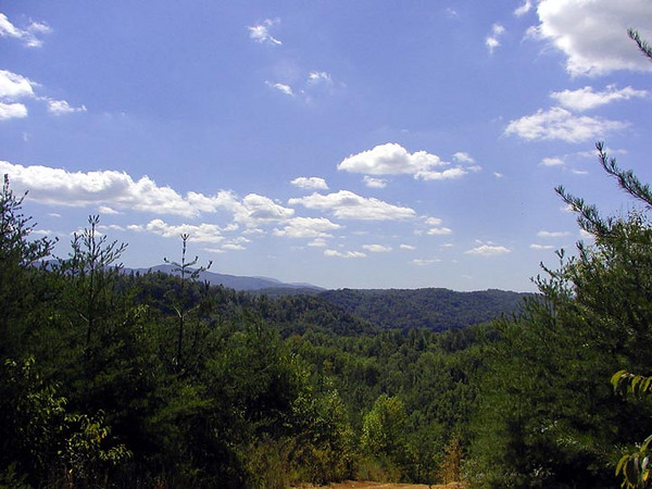 Awesome Blue Sky View from the top of Shingle Mountain<br /> Tallassee TN in Blount Co.