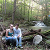 Ashley and Jared by the waterfall