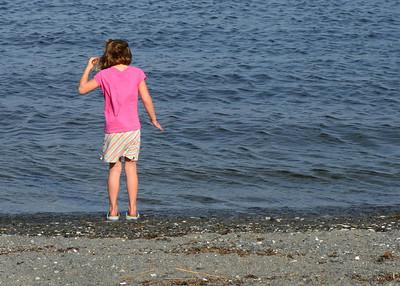 Ella testing the waters.