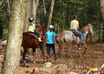 Trail ride time with Janet and PJ in the lead.