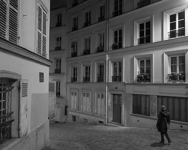 Rue dans le quarter Montmartre