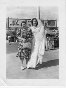 Julia Buono and Conjet Buono Marino on Conjet's wedding day, 4/20/1941