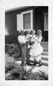 Greatgrandparents Pasquale Tancorra holding Frankie and Rose holding Joey 1949
