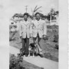 Left to Right: Joey & Vince Dambrose and ther loyal dog, Spottie