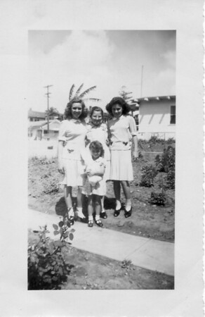 Left to Right: Rosie Buono, Unknown, Lena Buono, Unknown (front)