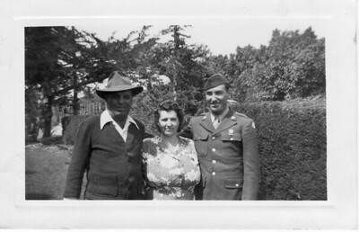 Frank Buono & Julia (Tancorra) Buono with Son Dominick (Nick) Buono taken 1945