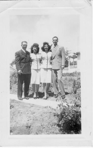 Left to Right: Carl Marino, Conjet (Buono) Marino, Teresa (Buono) De Santi, Joe De Santi