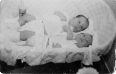 Twins Joey and Frankie Marino, 1949.