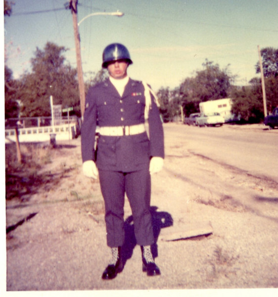Sgt. Frank Pharis<br /> Ready for parade<br /> 866th Radar Sqdn (NORAD)<br /> Tonopah, Nevada, 1967