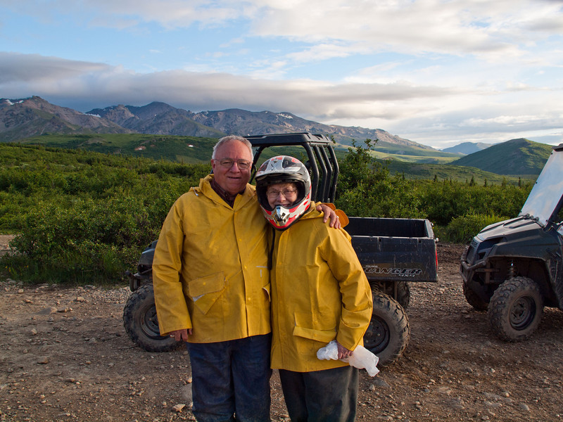 Frank & Gwen on 4-wheeler adventure in Denali - July 2012