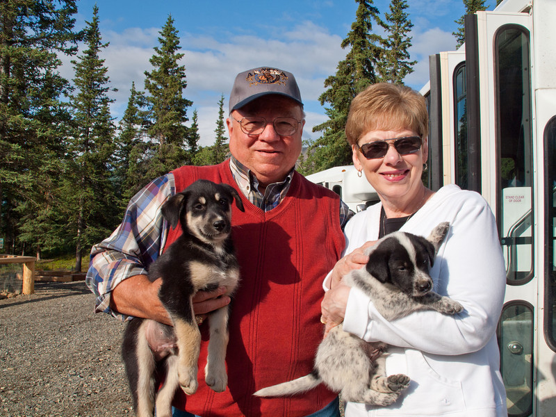 Frank & Gwen at Jeff King's dog training facility in Alaska - July 2012