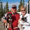 Frank & Gwen at Jeff King's dog training facility in Alaska - July 2012