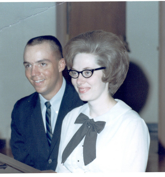 Frank & Gwen on leave in Melrose Park, IL. <br /> Between duty stations of Amarillo, TX and Tonopah, NV<br /> June 1966