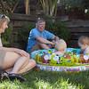 Gramma, Grandpa, Ansel & Coco in Pool I