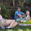 Gramma, Grandpa, Ansel & Coco in Pool II