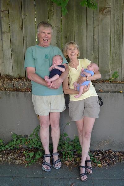 Fred & Ellen with Hulk & Thor
