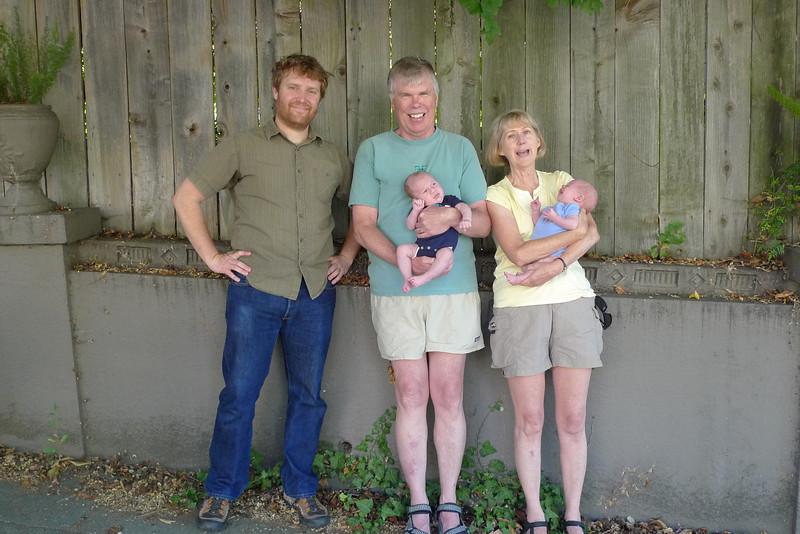 Dan, Fred & Ellen with Hulk & Thor