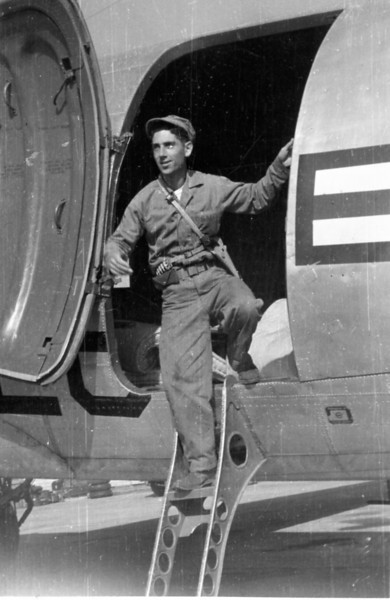 "Fred exiting ""his"" plane"