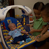14Sep09 - Cousins Hailey and Mikey welcoming their new cousin :)