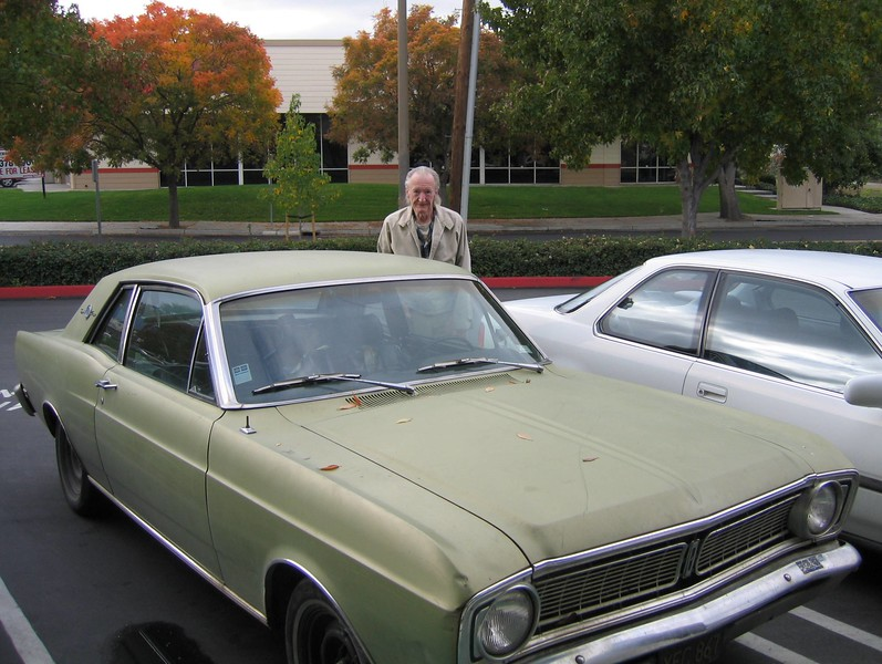 Fred with the Ford Fairlane he inherited from his father.