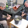 Fred Pape and Ron Pavellas performing duties at the home of Andrea and Ken Slosarik, san Jose, ca 2008