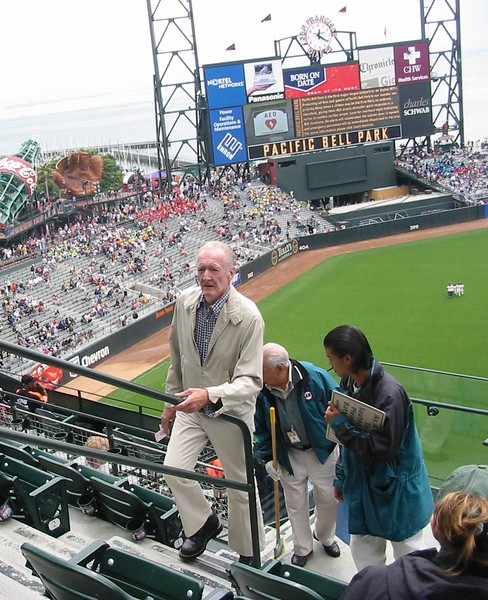 Fred at a Giants ball game, ca 2002