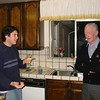 Fred with Alex Pavellas, at the home of Helga Slosarik, Los Gatos, ca 2002.