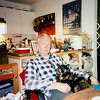 Fred Pape and Marmaduke, at the Home of Len and Suzie Rickard,  Milpitas, ca 2000
