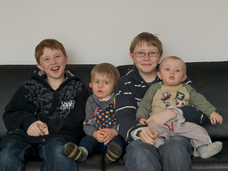 January 2009 5 minus 1 = 4.  From left to right Oliver, Cai, Jason and Luc