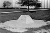 001 1975 recently finished Bent monument base, Designed by Phil Sanchez (FL G member), Phil also oversaw the construction