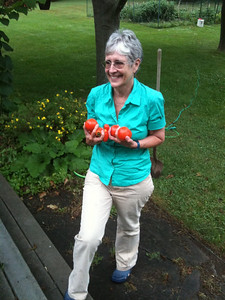 Carol loves tomatoes!