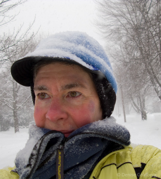 Another snowy walk, this time on December 31, 2008. Red cheeks, and yes, I still wear that badge of honor on my face. It's a permanent feature, and it still doesn't bother me!