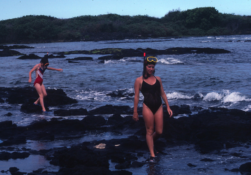 Hawaii, the big Island. Andi and Marla did a lot of snorkeling.