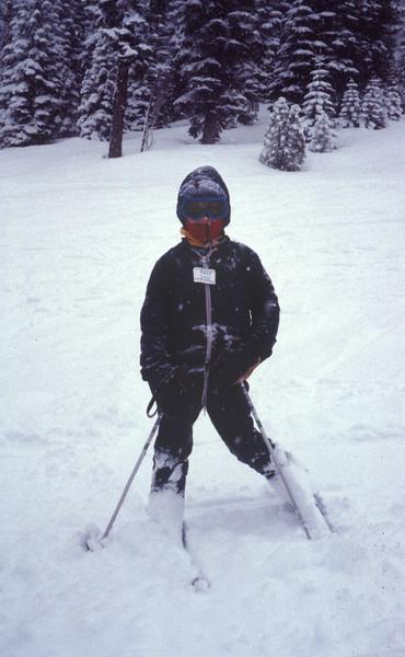 Marla skiing at Dodge Ridge in Jan 1983.