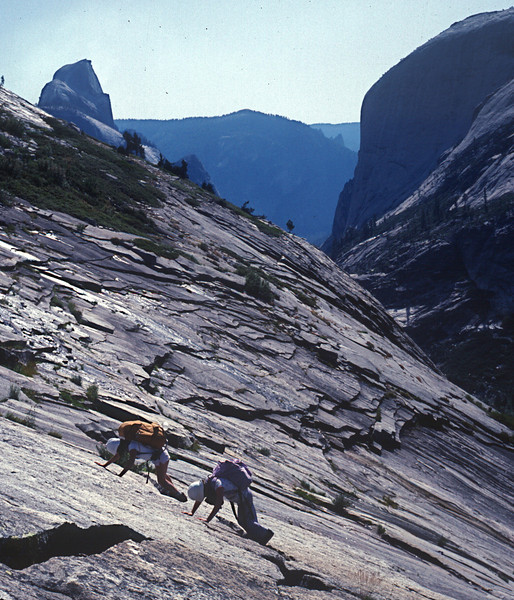 Tenaya Canyon descent in Yosemite.