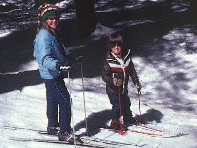 Andi and Marla X-country skiing in 1980