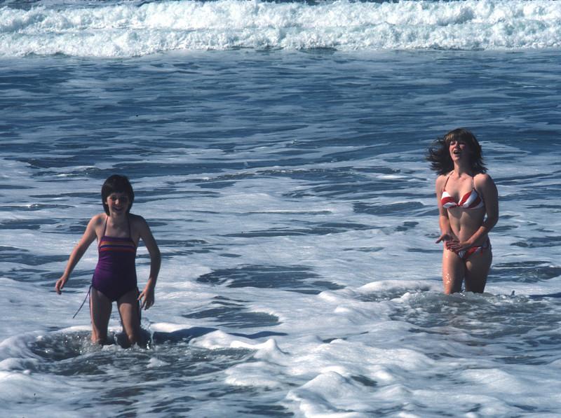 Swimming at Rosarita Beach in Baja