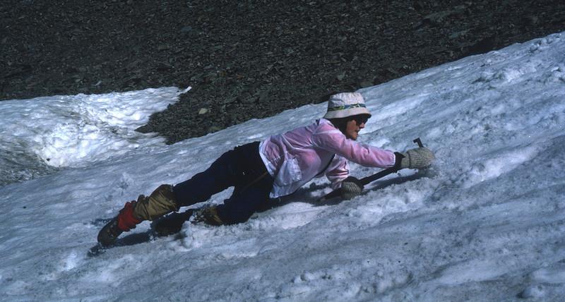 Mt. Olympus Climb - Marla learning to self arrest