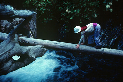 Lost Coast Backpack in Northern CA in July 1983 - Marla is showing good stream crossing form.