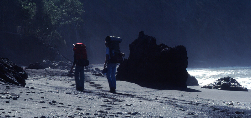 Lost Coast Backpack in Northern CA in July 1983