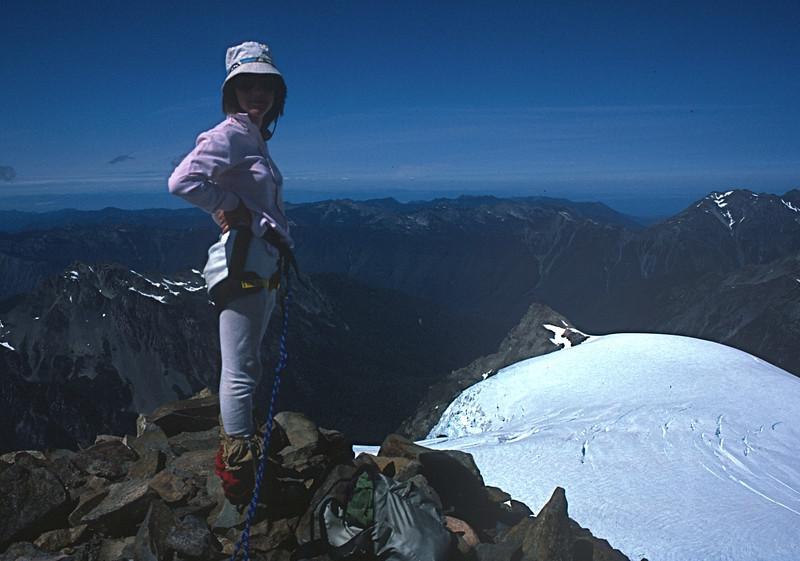 Mt. Olympus Climb - Marla on summit