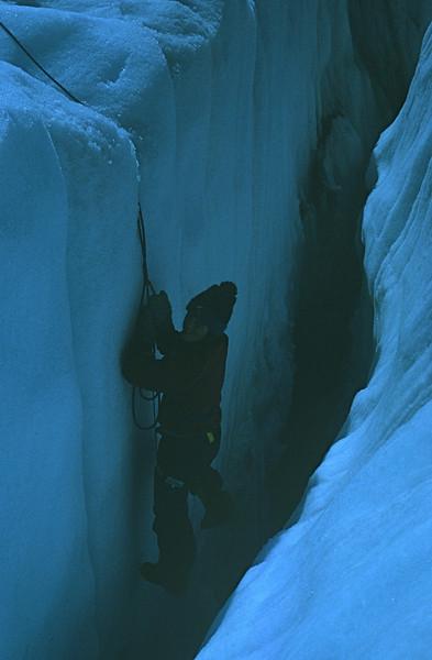 Mt. Olympus climb - Marla practicing crevasse rescue