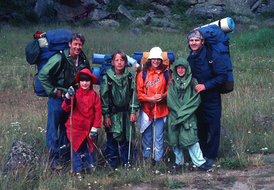 Wind River Backpack trip in 1982. We went with George Lowe and his two kids, George and Kara.