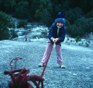 Marla on Monday Morning Slab in Yosemite in 1982.