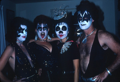 Kiss costumes on Halloween 1981. Can you recognize anyone?