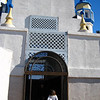 Medina Wasl, Paige outside a Mosque
