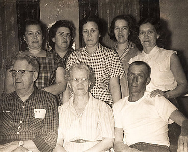 Gram Cook and her her parents (Grammy (memer)e)and Pepe Langlois, and her siblings, Aunt Eva, Aunt Millie, Uncle Duane, Aunt Julie and Aunt Lida